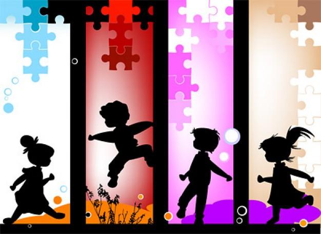 un-materiau-enfance-heureuse-vecteur_15-287