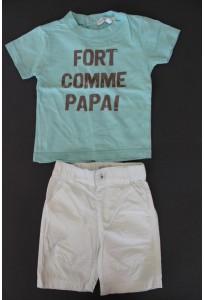 t-shirt-vert-et-bermuda-blanc