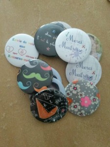 miroir badge magnets cadeau instit