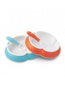 2_assiettes_babybjorn_plate_orange_turquoise_babybjorn_bambinou