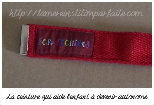 ceinture enfant scratchibus
