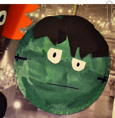 diy halloween assiette monstre frankenstein