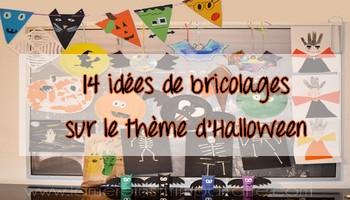 14 idées de bricolages sur le thème d'Halloween { Activité du mercredi }