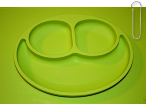 ezpz french flair happy mat happy bowl assiettes pour enfants