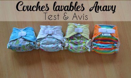 Couches lavables Anavy (Test et avis)
