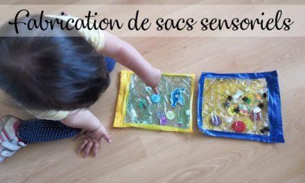 Fabrication de sacs sensoriels {DIY} {Activité pour enfants}
