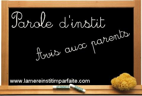 Parole d'instit – Avis aux parents ! #2 : Nommez les affaires de vos enfants !
