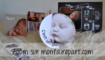 Zoom sur le site monfairepart.com
