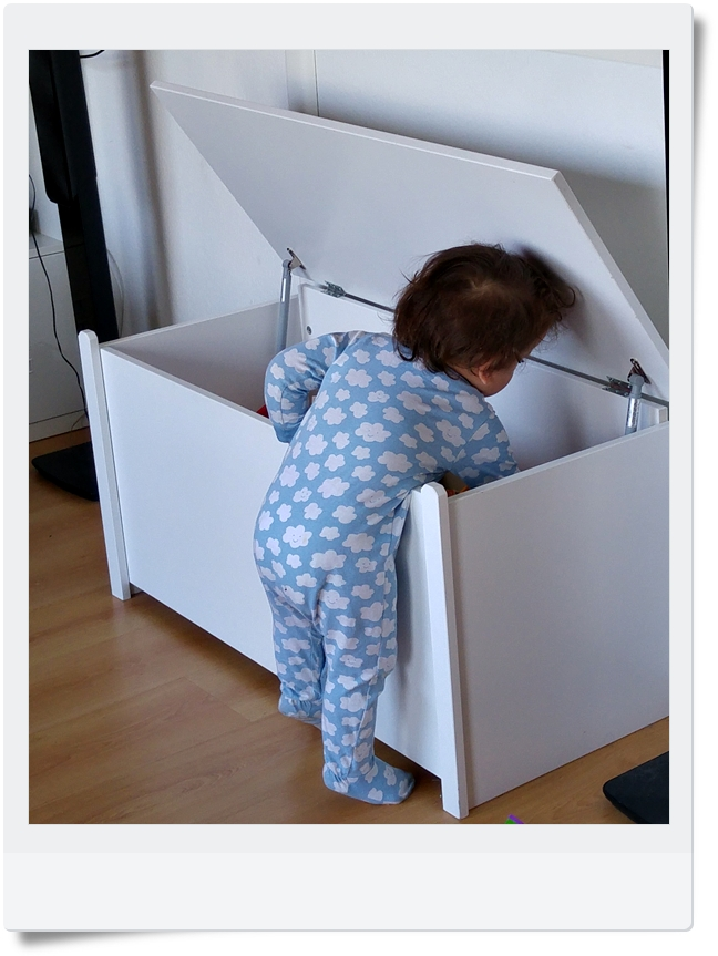 Le coffre à jouets en bois blanc made in France par Jurassien { concours des 10 000 }