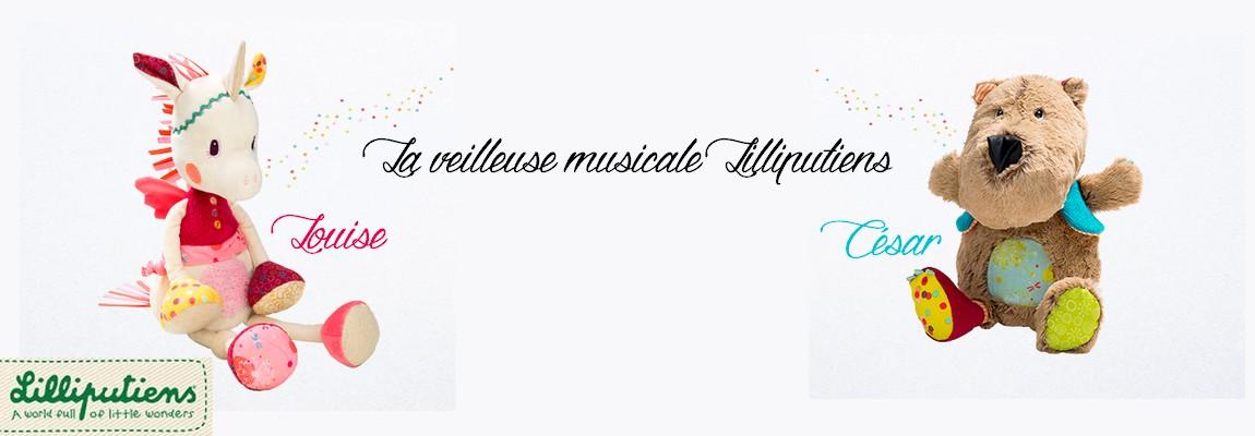 La veilleuse musicale César ou Louise by Lilliputiens { concours des 10 000 }