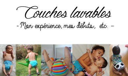 Couches lavables : Mon expérience