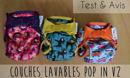 Couches lavables pop in {test et avis}